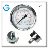 2 Back entry stainless steel pressure gauges