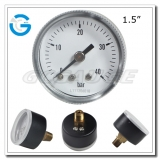 1.5 Economy gauges with black steel center connection screw type