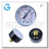 Compound gauges low pressure 2 inch 50mm  economic gauges with black steel case back connection