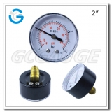 Compound gauges pressure gauges with 2 inch 50mm dial black steel case back connection
