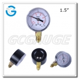 Compound Gauges Pressure Gauge 1.5inch 40mm  economic gauges with black steel case bottom connection