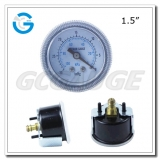 1.5 Economy black steel center mounted vacuum pressure gauge 40mm